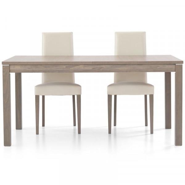 Tavolo moderno Fans 2 in laminato rovere grigio, rettangolare