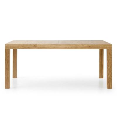 Tavolo rettangolare Sami 1 in laminato rovere consumato con 2 allunghe da 50 cm