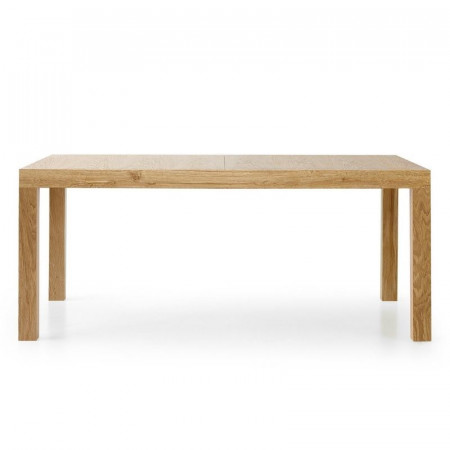 Sami 1 rectangular table in worn oak laminate with 2 extensions of 50 cm