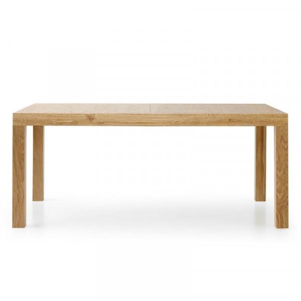 Table rectangulaire Sami 1 en stratifié chêne vieilli avec 2 rallonges de 50 cm