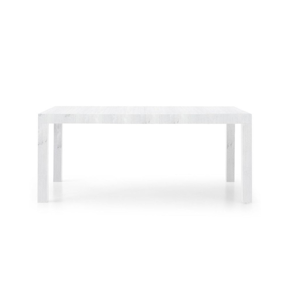 Sami 2 rectangular table in white ash