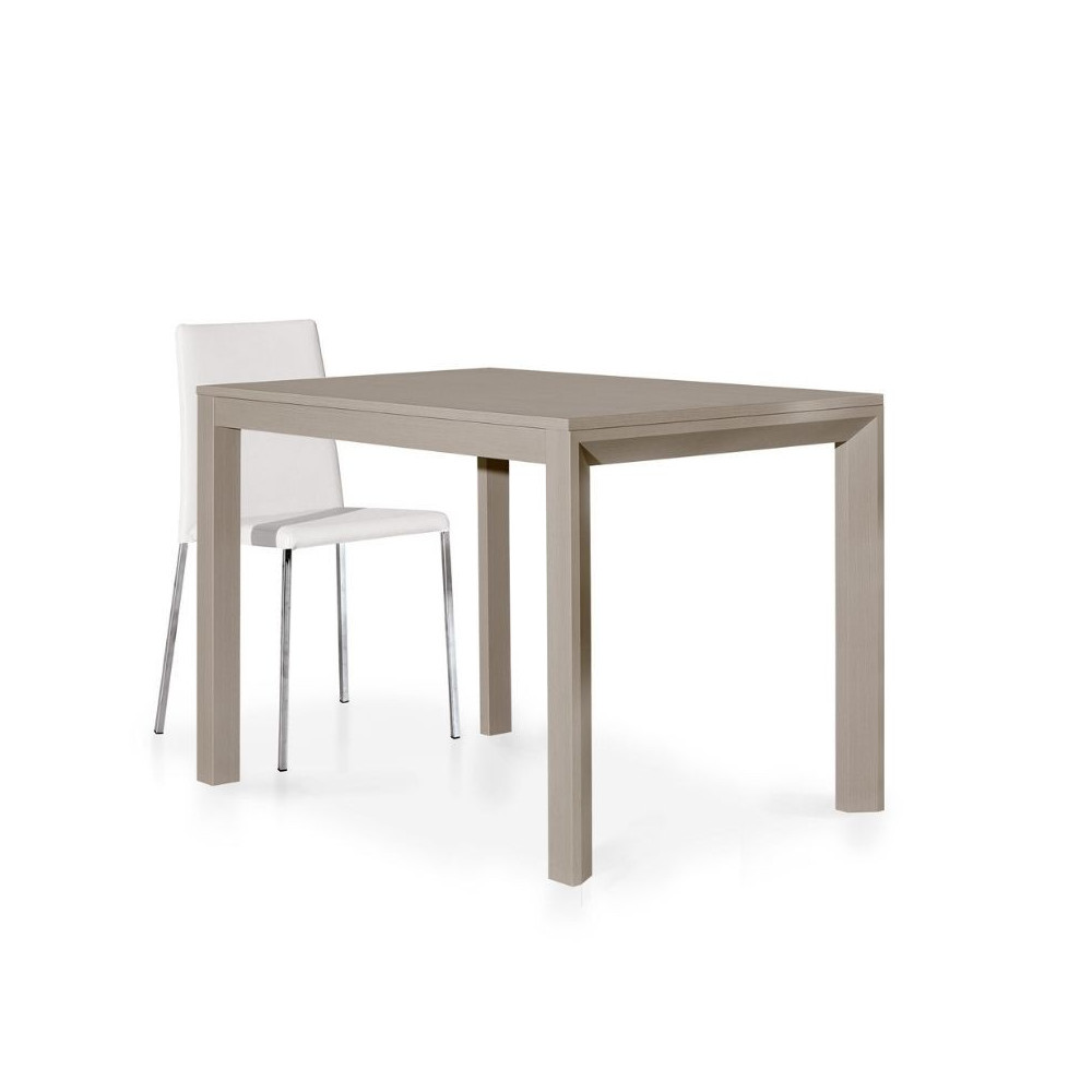 Modern table in dove gray laminate with