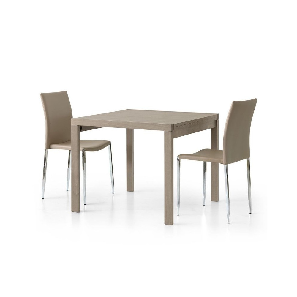 Sonia 1 square extendable table in dove