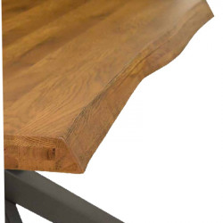 Astro table in solid knotted oak