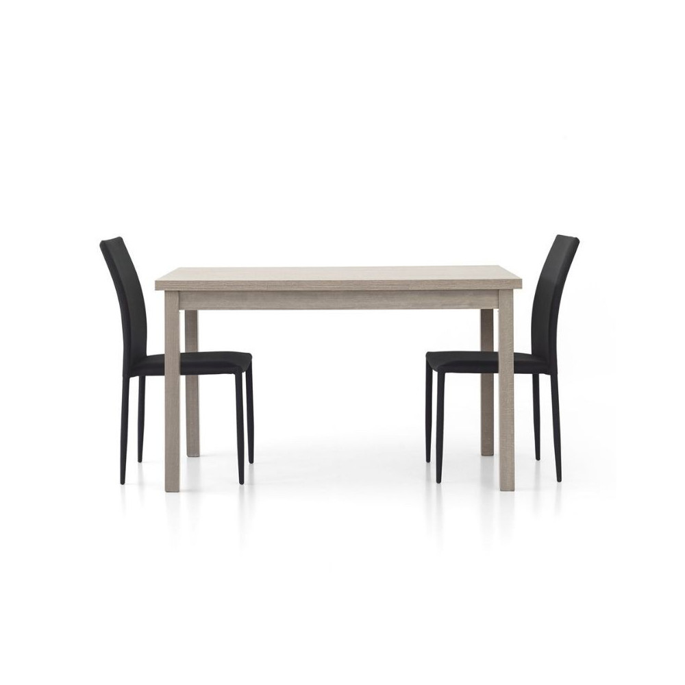 Focus 1 modern rectangular table, gray