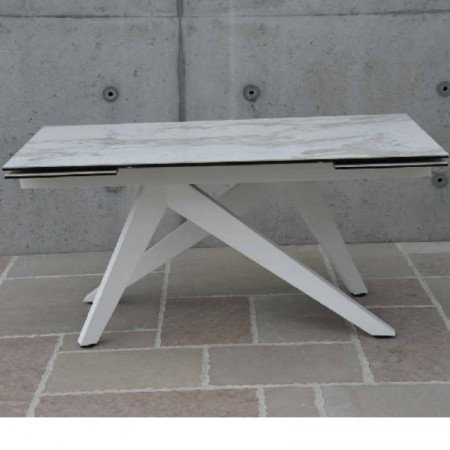 Astrid extendable table, with 2 extensions of 40 cm