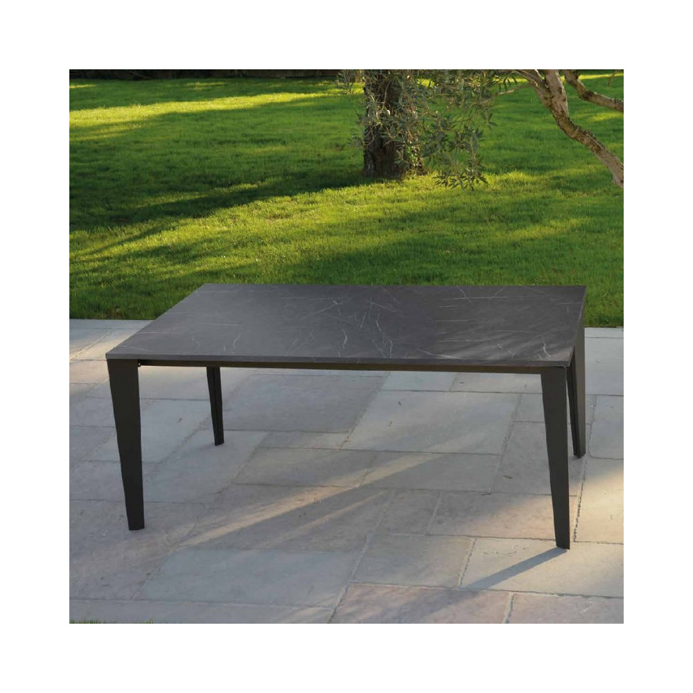 Susy extendable table with 2 extensions