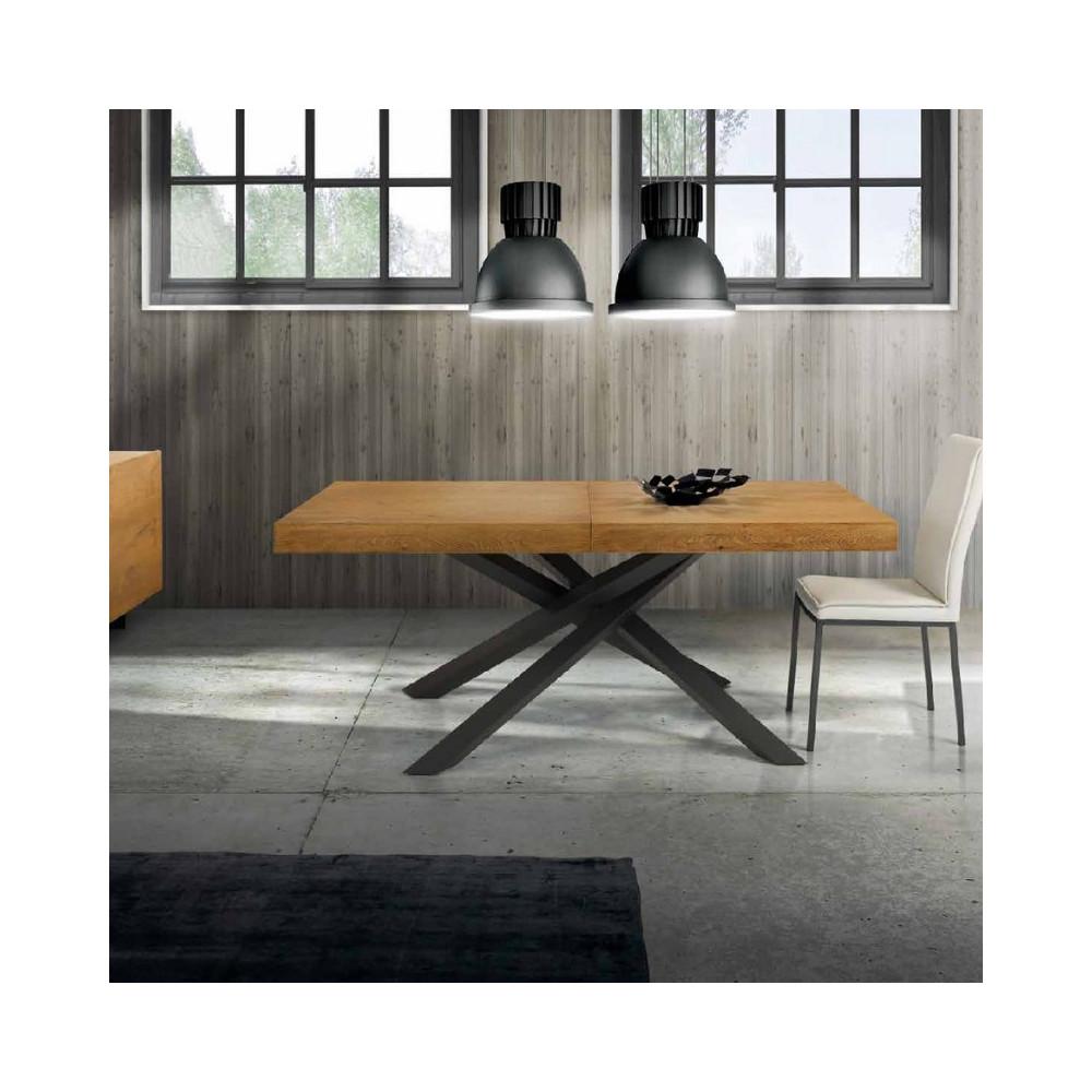 Table extensible Pelago plaquée en chêne
