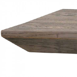 Sandy fixed table in solid knotted oak