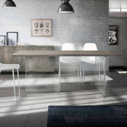 Orione fixed table in solid...