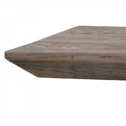 Orione fixed table in solid knotted oak