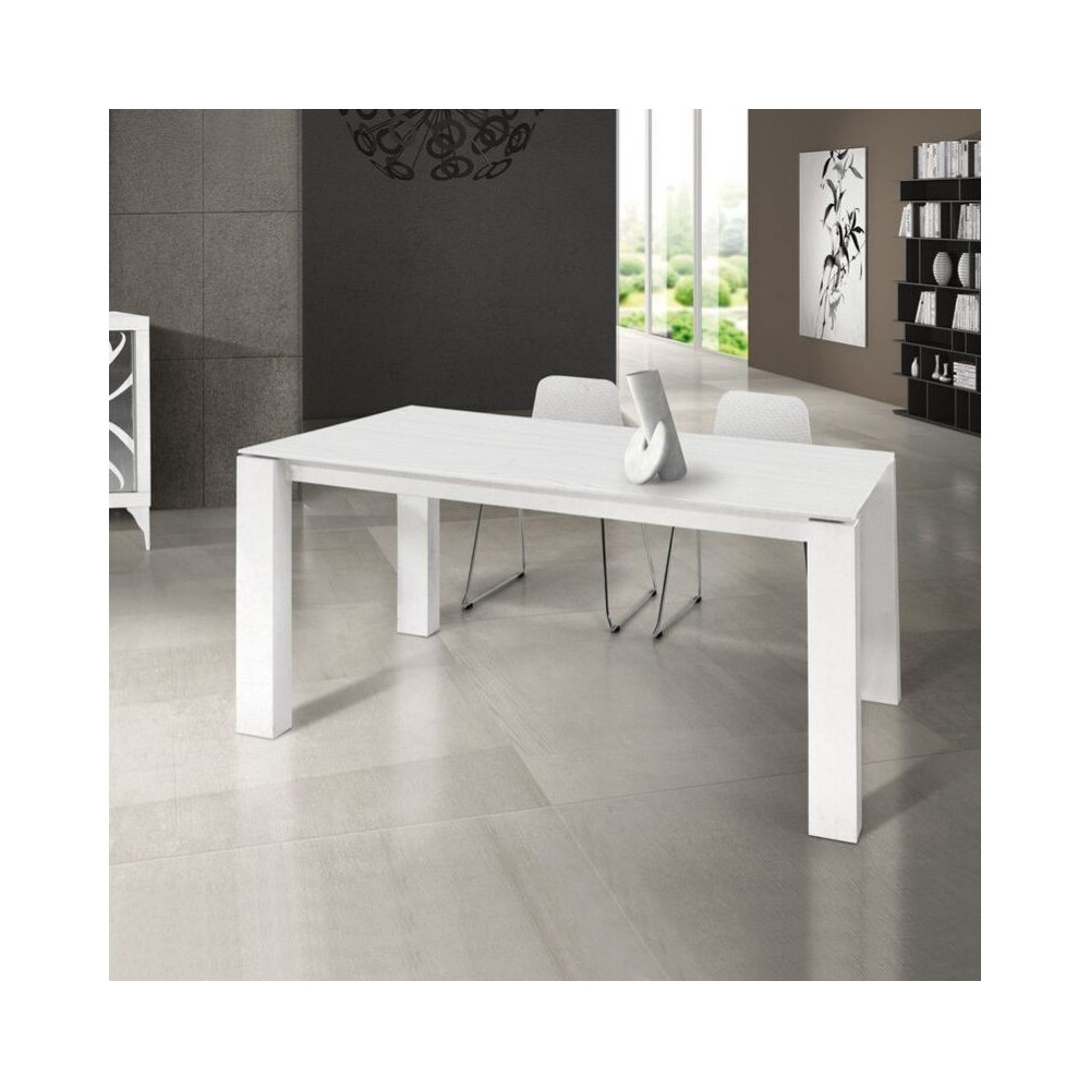 Orchidea laminate table with brushed