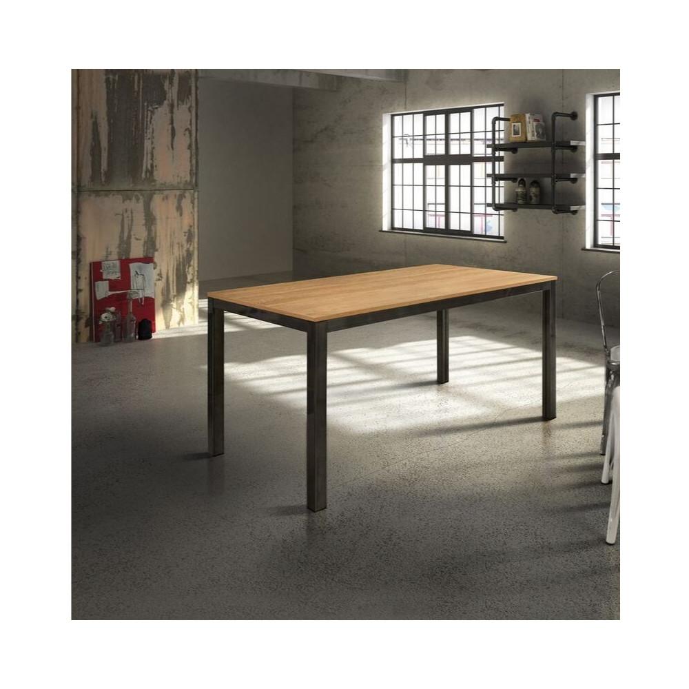 Tavolo rettangolare, piano in laminato
