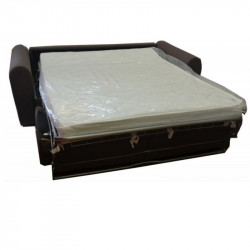 Denver sofa bed with electrowelded base and orthopedic mattress