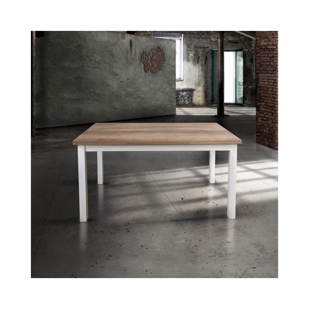 Savio rectangular table with oak
